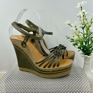 New Mia Strappy Knotted Platform Wedge Sandal